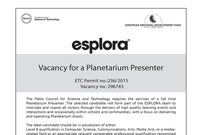 Planetarium Presenter